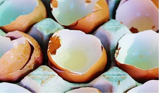 Приготовление яичной скорлупы