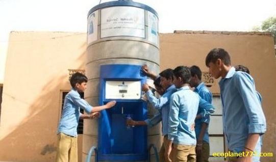 Автоматы чистой воды Sarvajal Индия