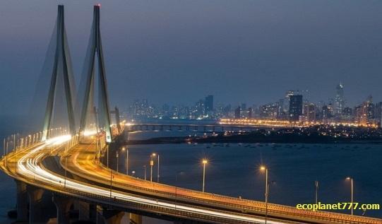 Мост Bandra Worli Sealink Индия