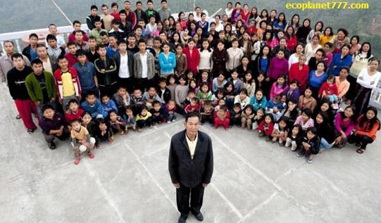 Наибольшая семьи в мире