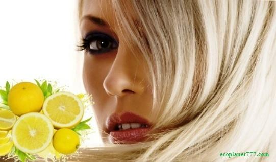 Лимонный лак для волос