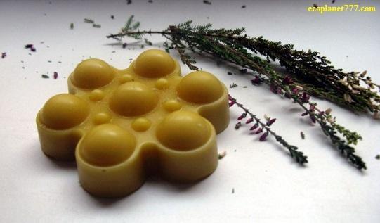 Натуральные массажные плитки из пчелиного воска