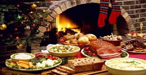 Новогодний стол с эко продуктами